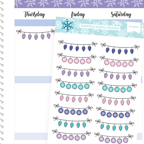 Winter Deco Stickers // Winter Set // Drawn Doodles // Bright / Winter Banners