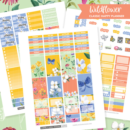 CLASSIC HAPPY PLANNER Printable / Instant Download / Wildflower
