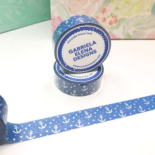 Washi Roll // Shop Exclusive // Blue Voyage + Holographic Foil // 15 mm