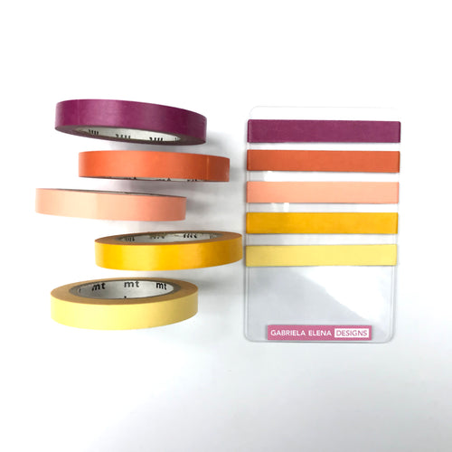 "Washi Tape - 24"" Sample // Washi Card / Solids / Sunset"