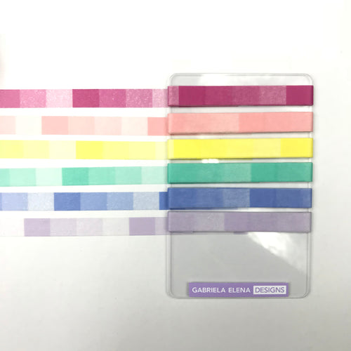"Washi Tape - 24"" Sample // Washi Card / Ombre Pastel Sorbet"