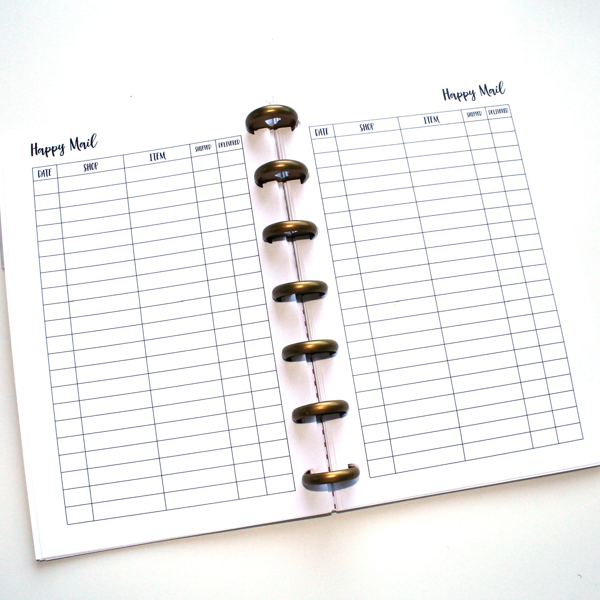 Mini Happy Planner Inserts // Happy Mail Tracker