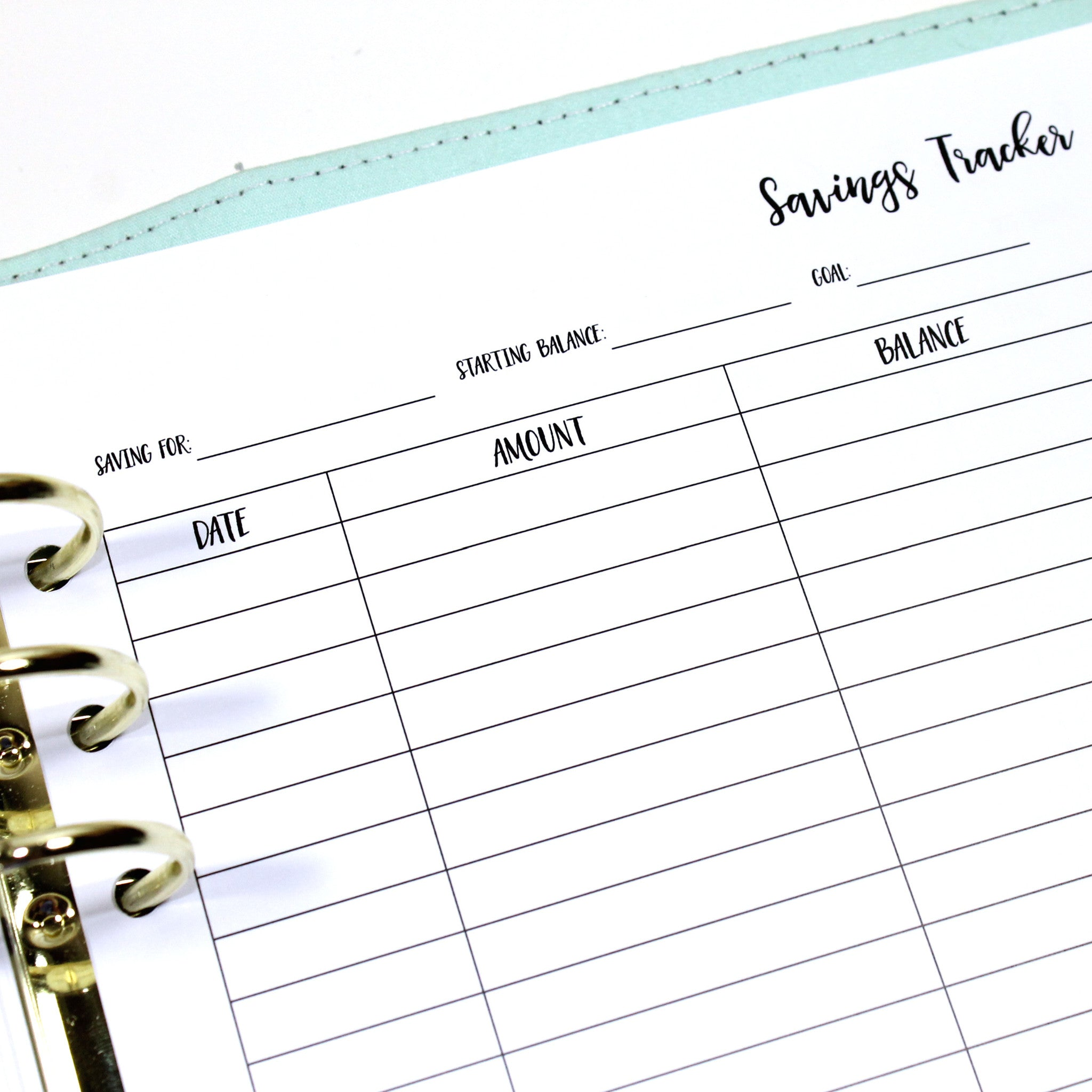 A5 Inserts // Savings Tracker