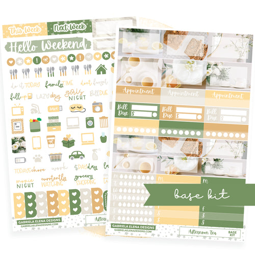 Afternoon Tea // BASE KIT / Icons / Functional / Sticker Kit