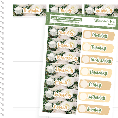 Afternoon Tea // a la carte / Sticker Kit Add On / Date Headers / FOIL