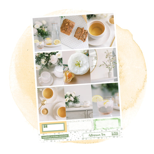 Afternoon Tea // a la carte / Sticker Kit / Full Boxes / FOIL