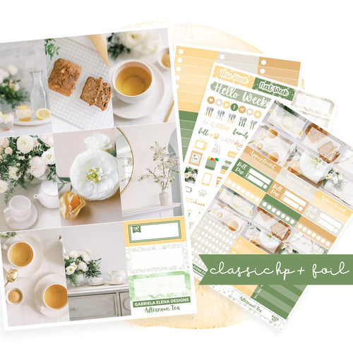 Afternoon Tea // CLASSIC HAPPY PLANNER / Sticker Kit / FOIL