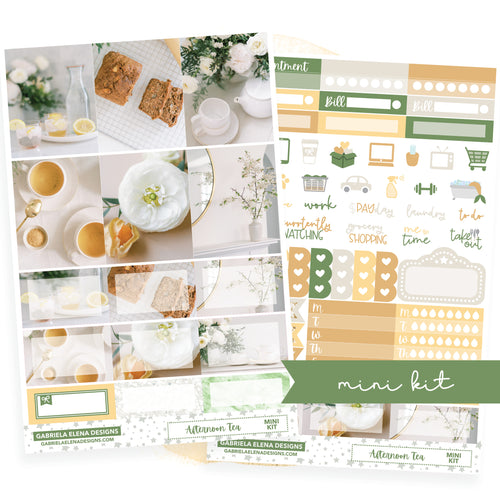 Afternoon Tea // MINI KIT / Sticker Kit / FOIL