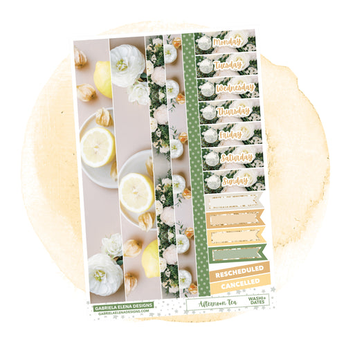 Afternoon Tea // a la carte / Sticker Kit Add On / Washi and Date Covers / FOIL