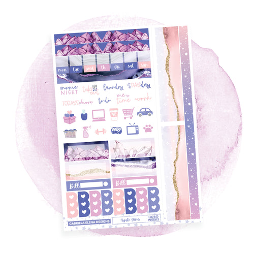 Agate Gems / HOBONICHI WEEKS // Sticker Kit