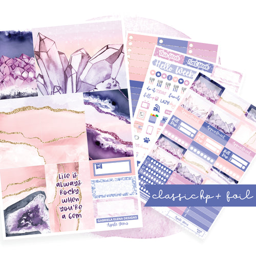 Agate Gems // CLASSIC HAPPY PLANNER / Sticker Kit / FOIL