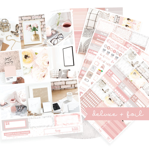 Airy // Deluxe VERTICAL // Sticker Kit // Full Weekly Kit / FOIL