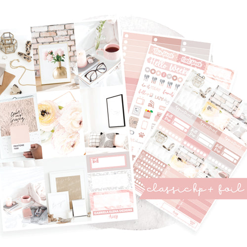 Airy // CLASSIC HAPPY PLANNER / Sticker Kit / FOIL
