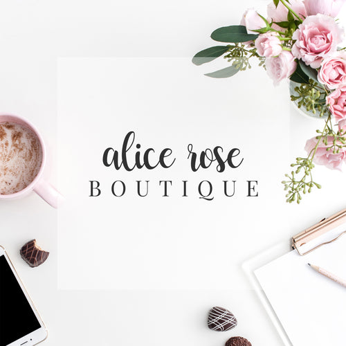 Pre-made Logo // Alice Rose