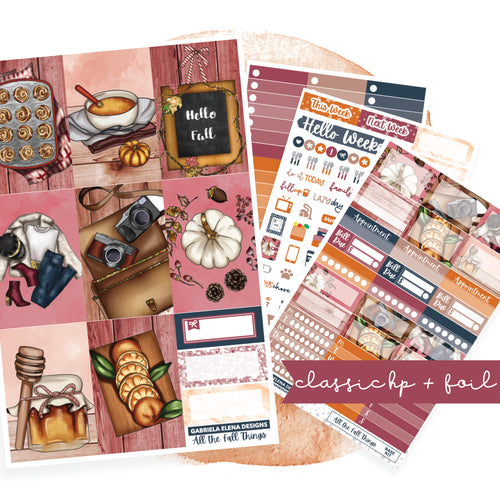 All the Fall Things // CLASSIC HAPPY PLANNER / Sticker Kit / FOIL
