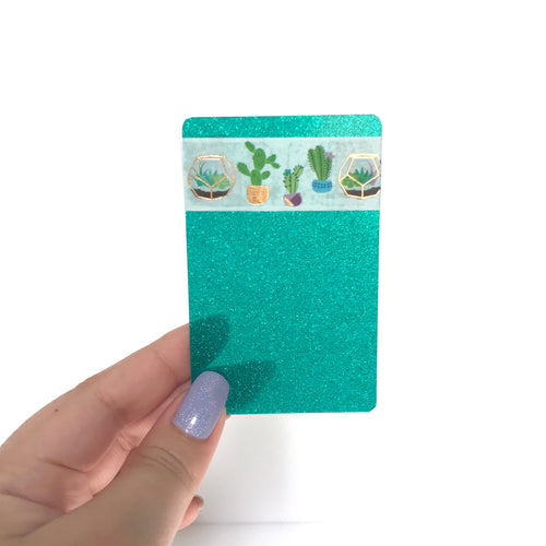 Washi Card // Teal Glitter