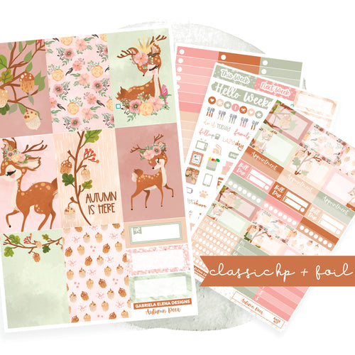 Autumn Deer // CLASSIC HAPPY PLANNER / Sticker Kit / FOIL