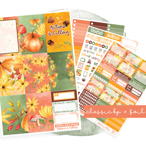 Autumn is Calling // CLASSIC HAPPY PLANNER / Sticker Kit / FOIL