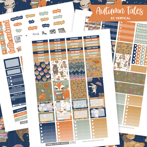 VERTICAL Printable / Instant Download / Autumn Tales