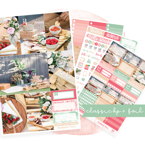 Backyard Picnic // CLASSIC HAPPY PLANNER / Sticker Kit / FOIL