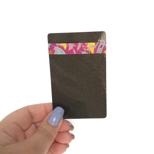 Washi Card // Black Glitter