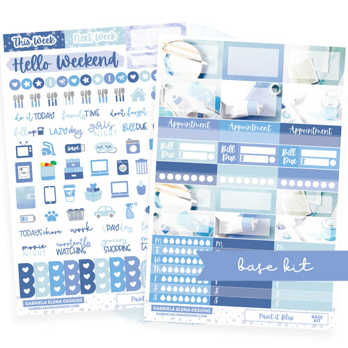 Paint it Blue / Photo Series // BASE KIT / Icons / Functional / Sticker Kit