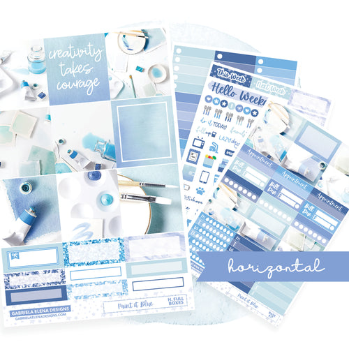 Paint it Blue / Photo Series // EC HORIZONTAL / Sticker Kit