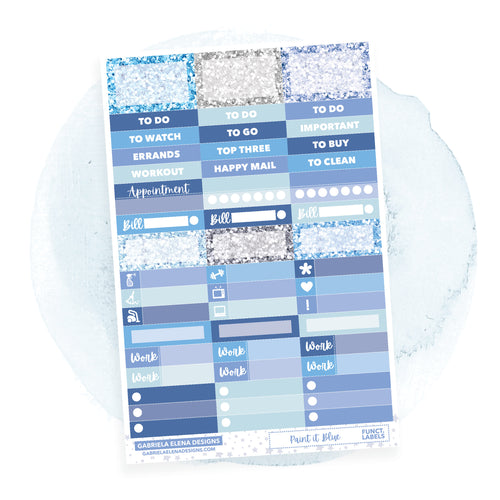 Paint in Blue / Photo Series  // a la carte / Sticker Kit Add On / Functional