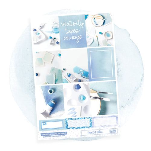 Paint it Blue / Photo Series // a la carte / Sticker Kit / Full Boxes