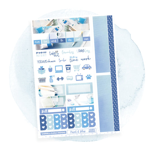 Paint it Blue / HOBONICHI WEEKS / Photo Series // Sticker Kit