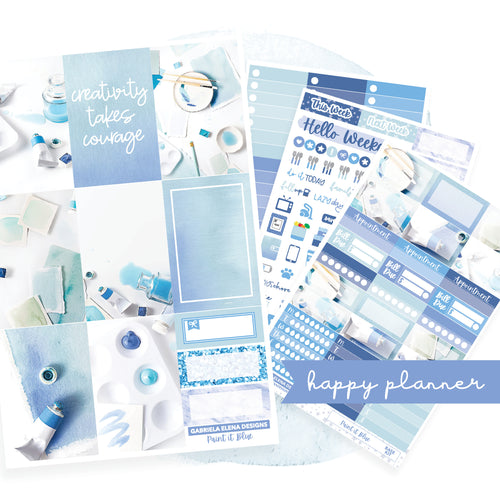 Paint it Blue / Photo Series // CLASSIC HAPPY PLANNER / Sticker Kit
