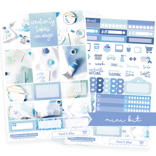 Paint it Blue / Photo Series // MINI KIT / Sticker Kit