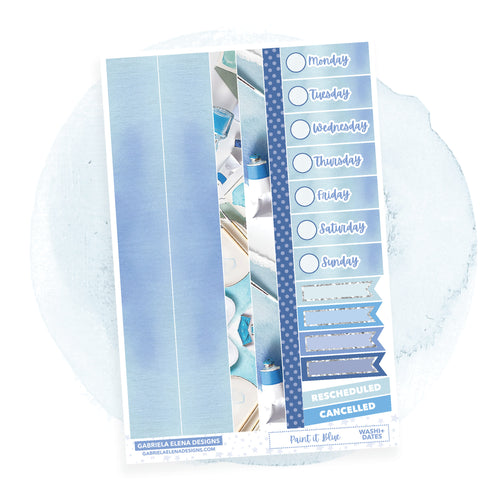 Paint it Blue / Photo Series  // a la carte / Sticker Kit Add On / Washi and Date Covers