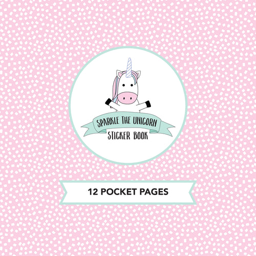 Sparkle the Unicorn // Sticker Book Inserts