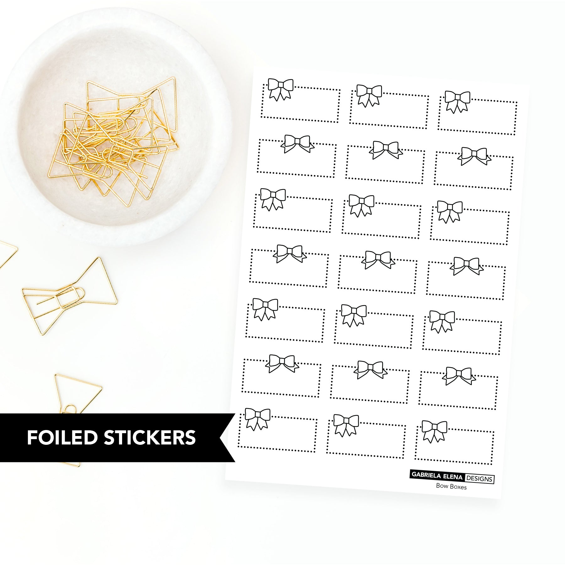 FOIL Stickers // Bow Boxes
