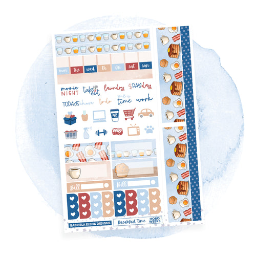 Breakfast Time / HOBONICHI WEEKS // Sticker Kit