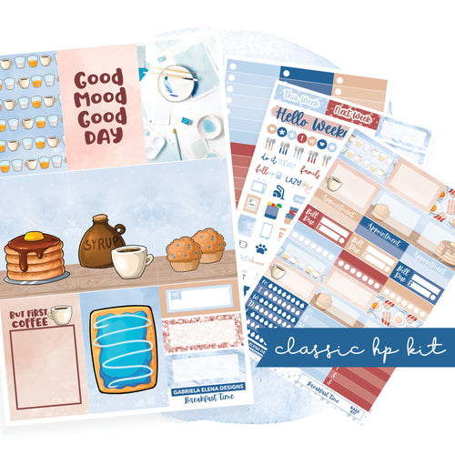 Breakfast Time // CLASSIC HAPPY PLANNER / Sticker Kit