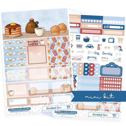 Breakfast Time // MINI KIT / Sticker Kit