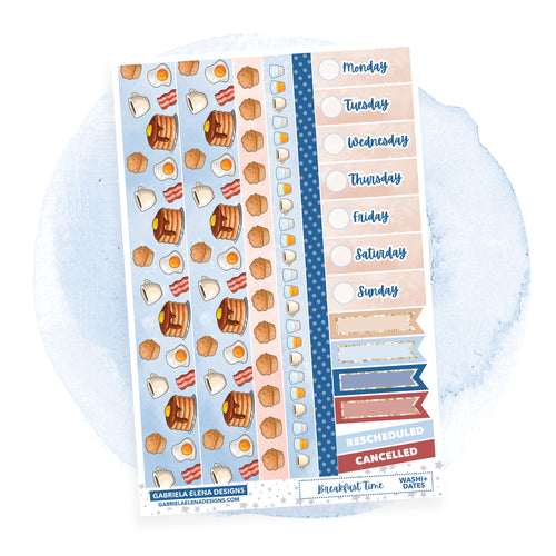 Breakfast Time // a la carte / Sticker Kit Add On / Washi and Date Covers