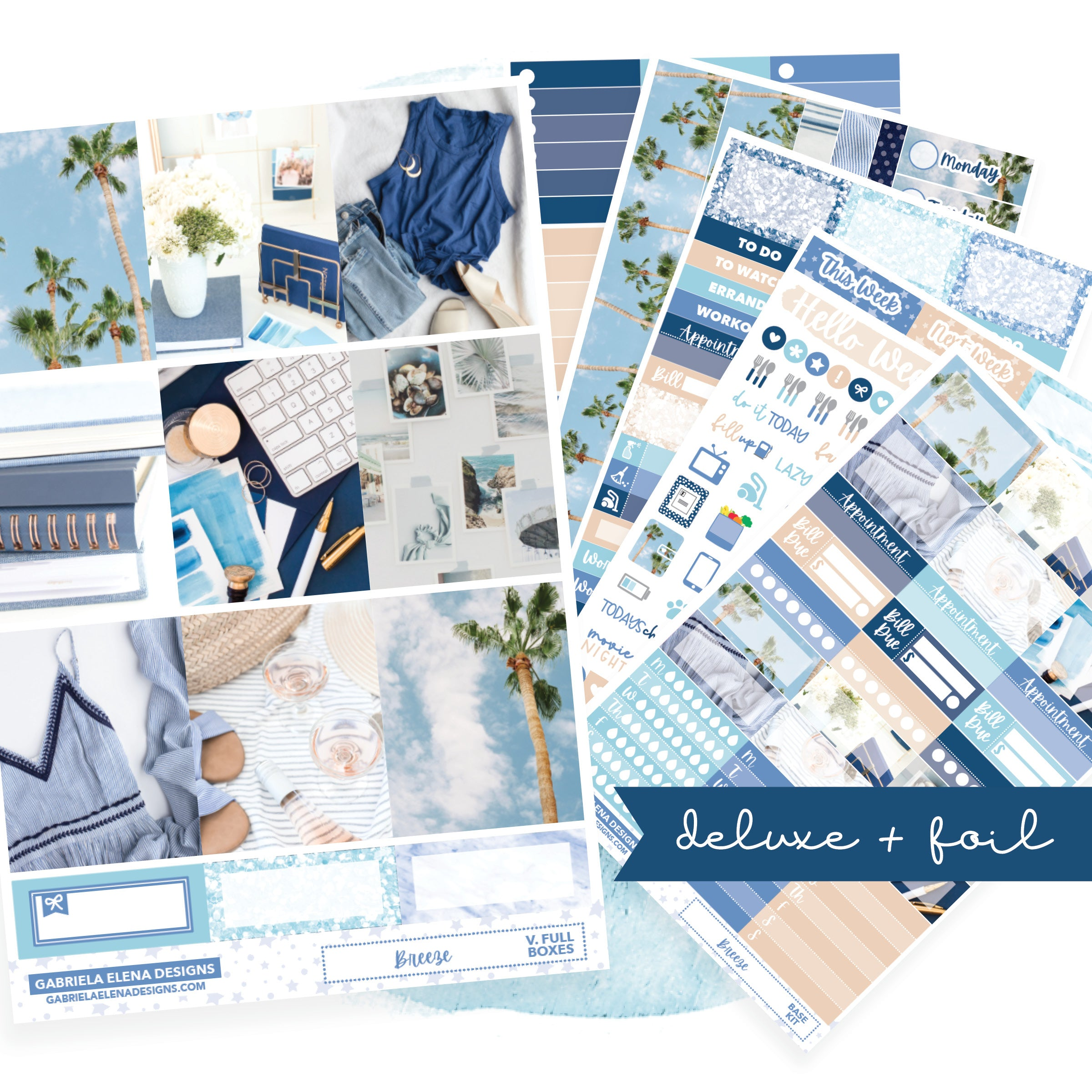 Breeze // Deluxe VERTICAL // Sticker Kit // Full Weekly Kit / FOIL