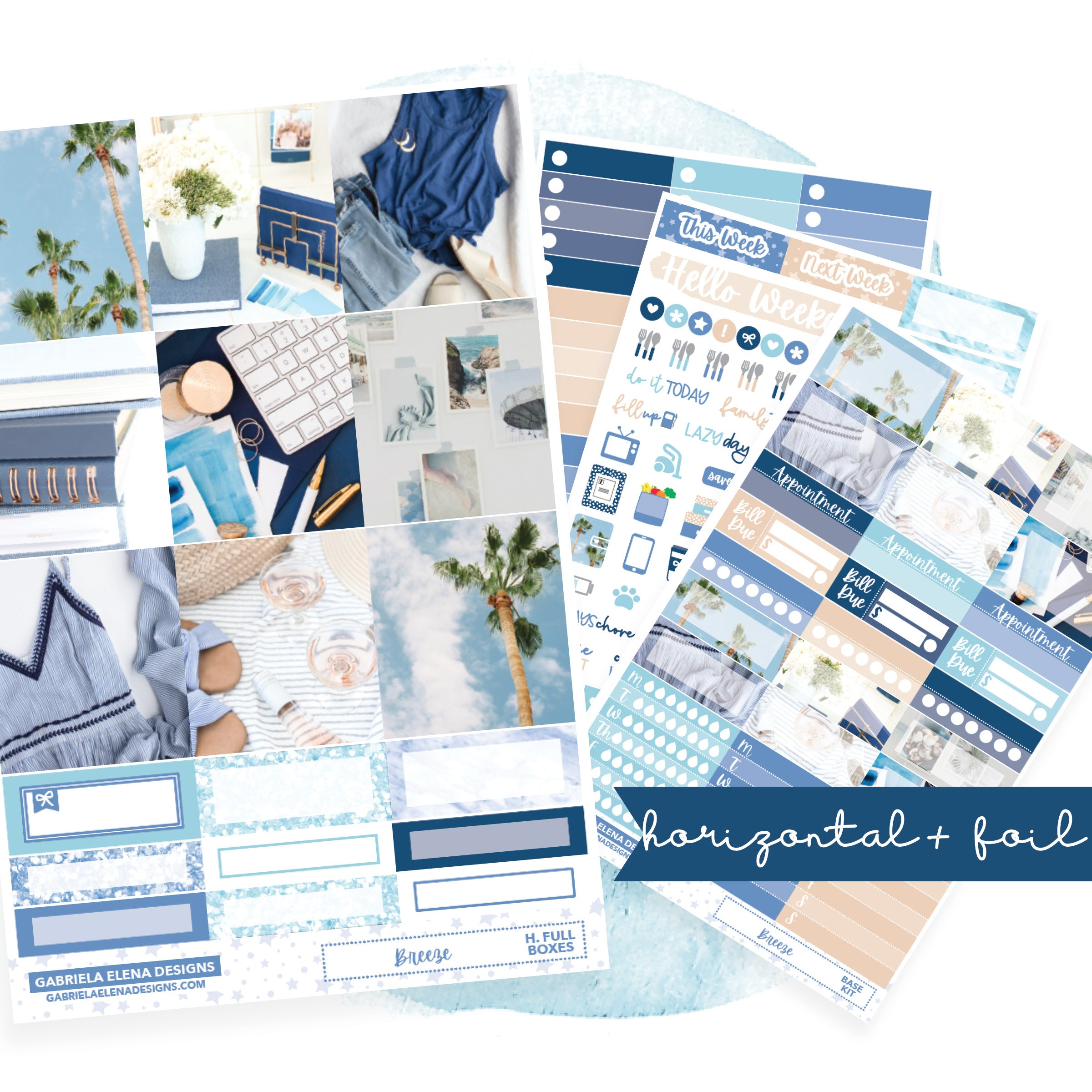 Breeze // HORIZONTAL / Sticker Kit / FOIL