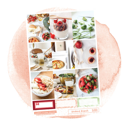 Brunch / Photo Series  // A LA CARTE / Sticker Kit / Full Boxes