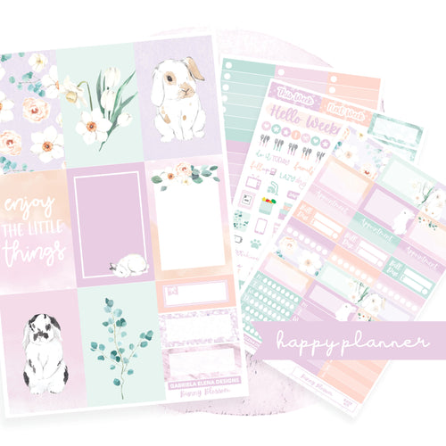 Bunny Blossom // CLASSIC HAPPY PLANNER / Sticker Kit