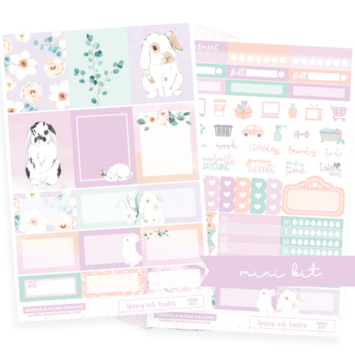 Bunny Blossom // MINI KIT / Sticker Kit