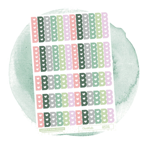 Checklists // Functional Planner Stickers / Cactus