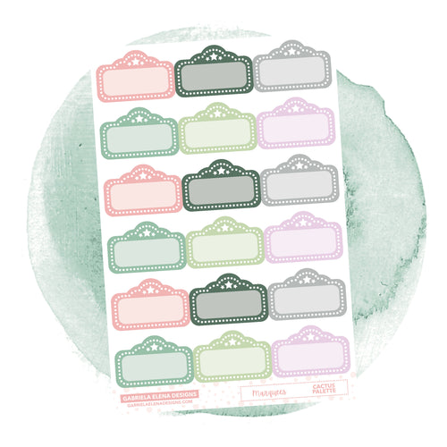 Marquees // Functional Planner Stickers / Cactus