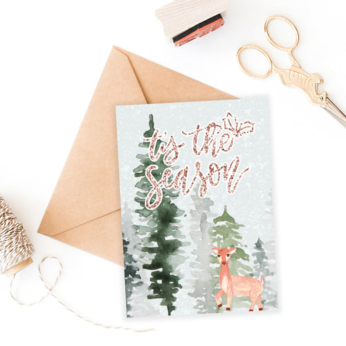 5 x 7 Holiday Card Printable / Instant Download // Tis the Season