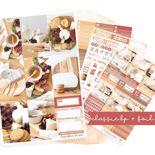 Charcuterie Board // CLASSIC HAPPY PLANNER / Sticker Kit / FOIL