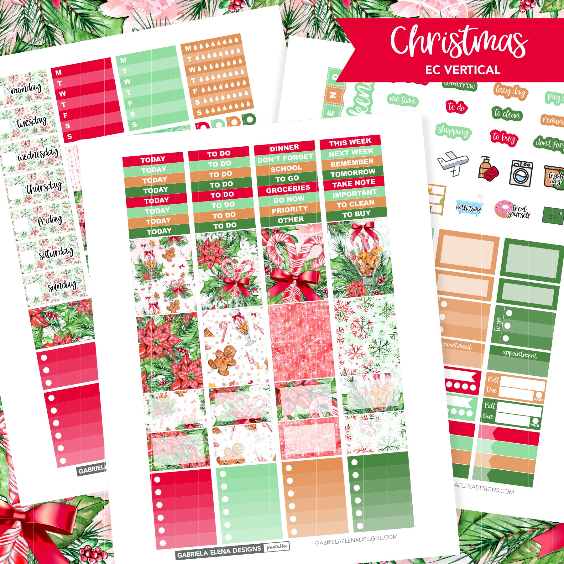 VERTICAL Printable / Instant Download / Christmas