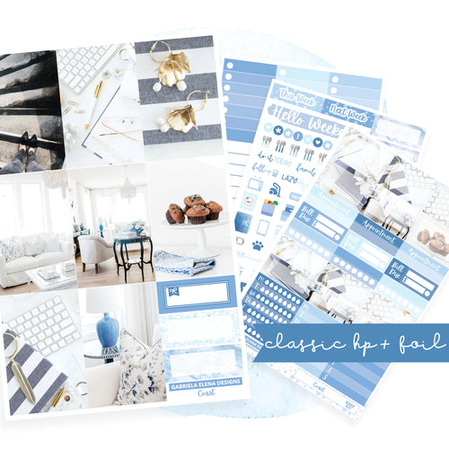 Coast // CLASSIC HAPPY PLANNER / Sticker Kit / FOIL